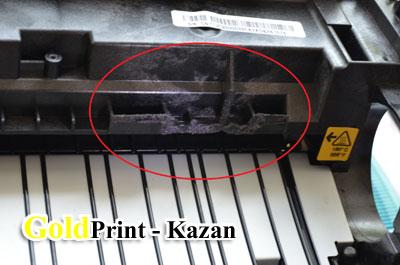 Вид с отрезанным держателем контактов на чип картриджа
