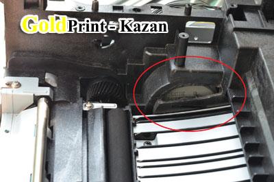 Доработанная часть принтера в области привода картриджа
